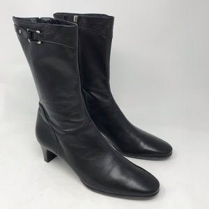 Cole Haan Black Neve Short Nappa Leather Boots